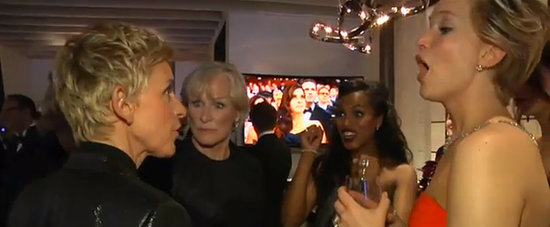 Ellen Reprimands Jennifer Lawrence Backstage at the Oscars