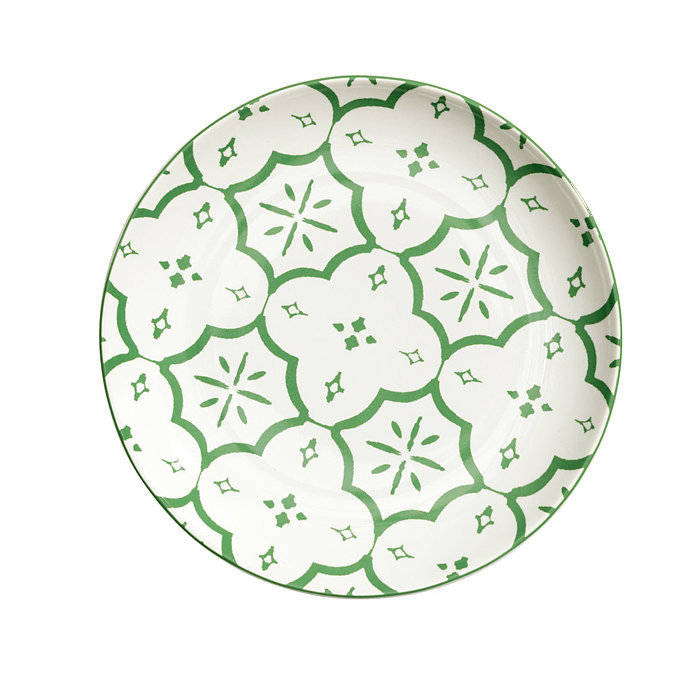 Layer these salad plates ($6) atop larger, white dinner plates for a hint of pattern.