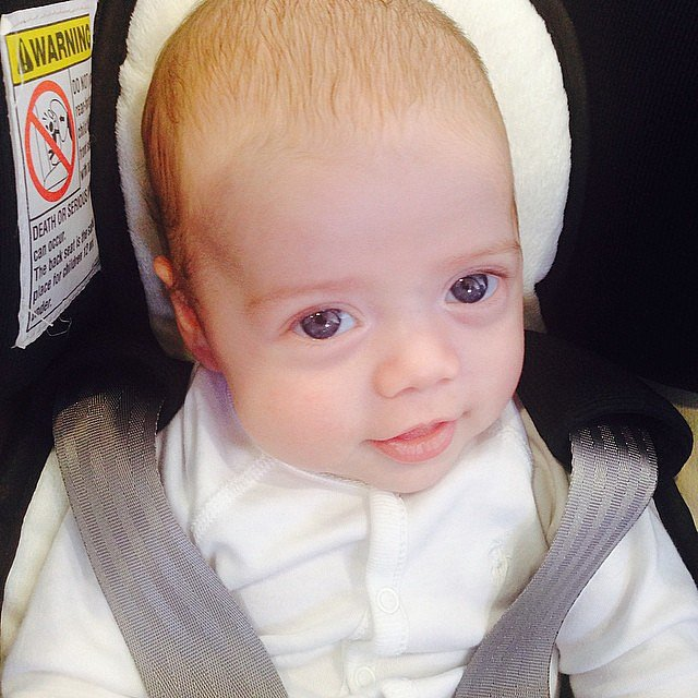 Kaius Berman visited his mom Rachel Zoe's office for the first time this week. Source: Instagram user rachelzoe