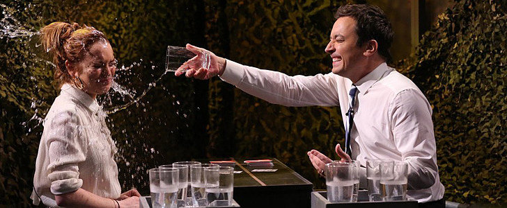 Lindsay Lohan Uses the Powers of Oprah to Defeat Jimmy Fallon at Water War