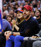 Olivia Wilde and Jason Sudeikis were glued to the LA Lakers vs. Houston Rockets matchup in February.