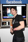 Ian Somerhalder showed off his arms at the Funny or Die Clubhouse and Facebook Pop-Up headquarters on Saturday.