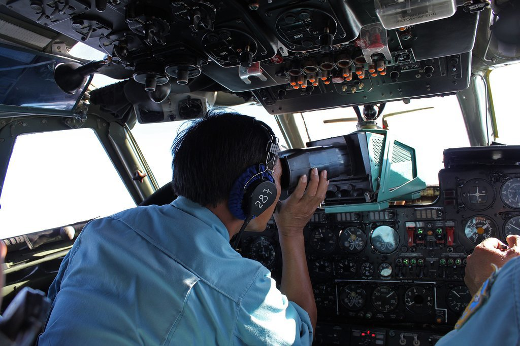 "On Saturday, military personnel aboard a Vietnam Air Force aircraft scanned the sea for wreckage and signs of the jet. The next day, Malaysia Airlines said it was ""fearing the worst"" outcome."