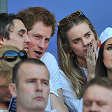 Prince Harry and Cressida Bonas at a Rugby Match 2014