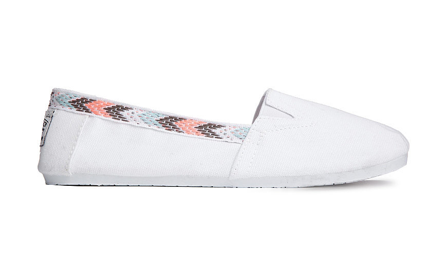New Look Morenio White Slip-On Flat Shoes ($17)