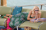 2005: Paris Hilton looks ridiculously bored while lounging on a couch in Cancun.