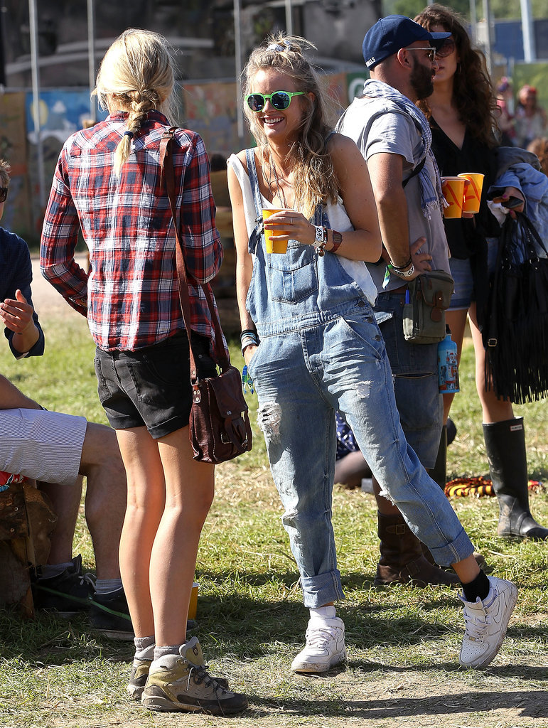 Cressida Bonas at the 2013 Glastonbury Festival