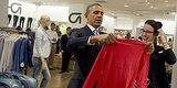 Obama's Gap Shopping Trip Is As Endearingly Awkward As You'd Imagine