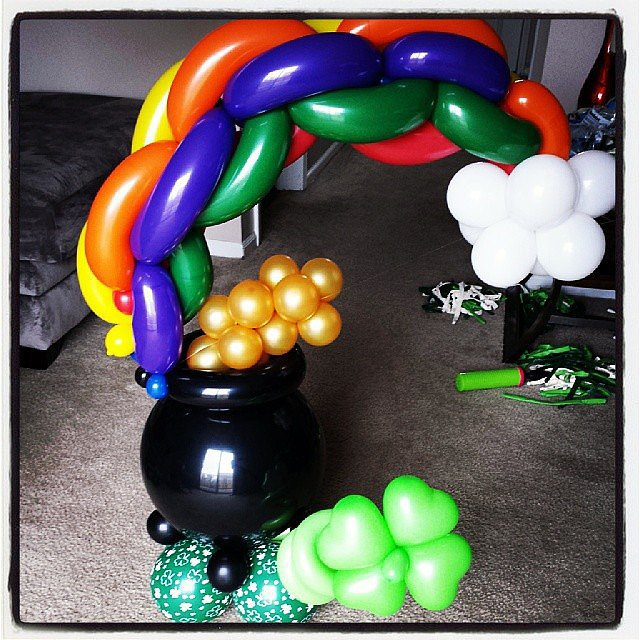 Along with rainbow balloons.