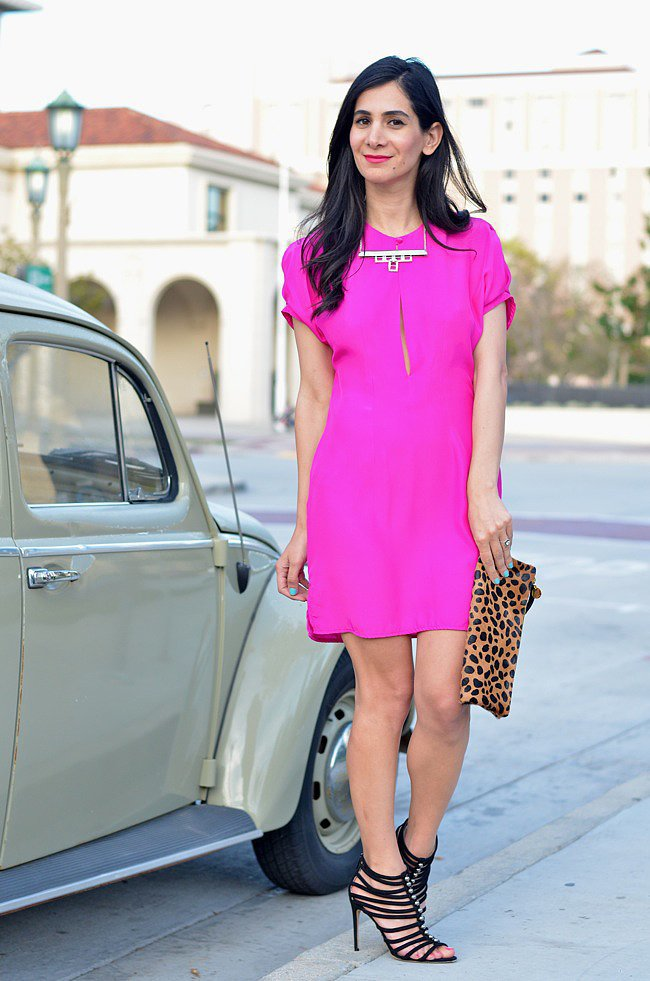 Congrats, A Vintage Splendor! We'll always be a fan of a bright pink dress (and killer heels).