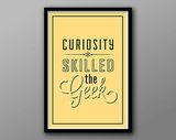 Curiosity skilled the geek ($18-$20)