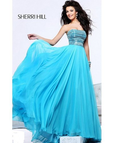 2014 Blue Prom Gown Sherri Hill 1539