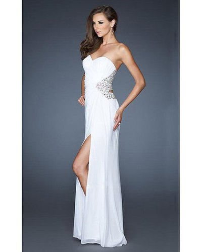 18771 White La Femme Prom Dress Long