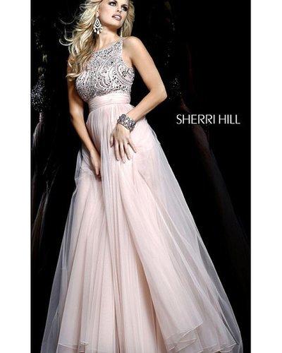 2014 Nude Prom Dress by Sherri Hill 11022