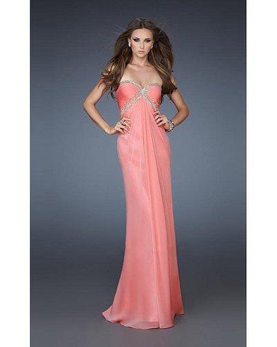 2014 La Femme 18390 Coral Prom Dress