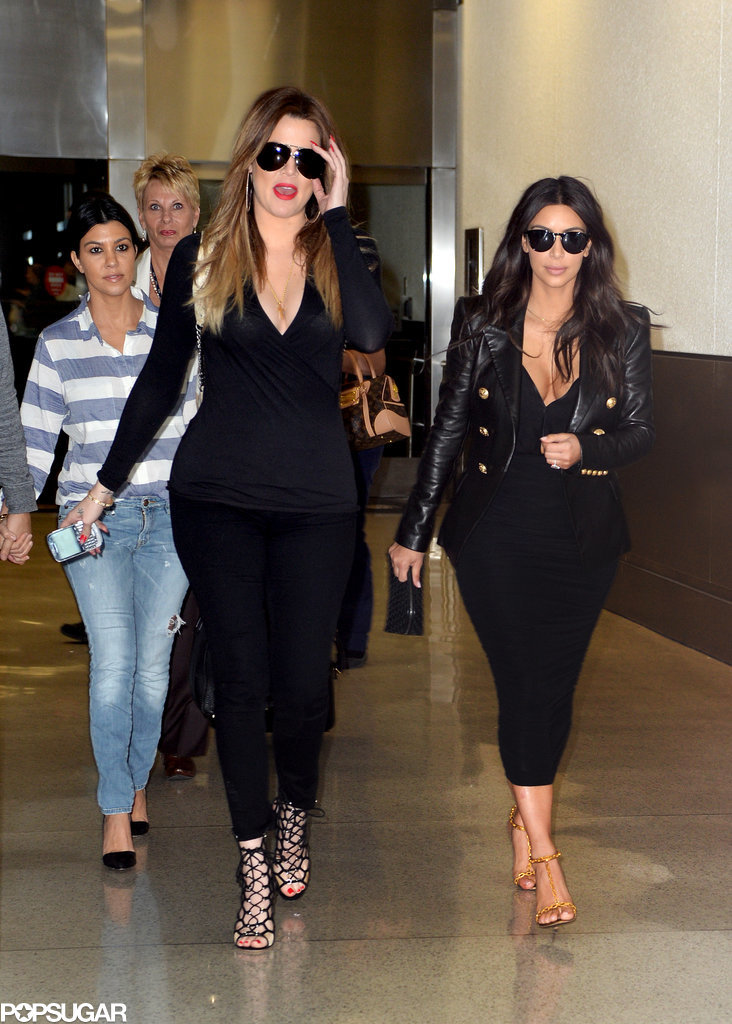 Kim and Her Sisters Mingle in Miami While Police Investigate Thefts