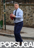 On Tuesday, Alec Baldwin played with a football on the set of Still Alice in NYC.