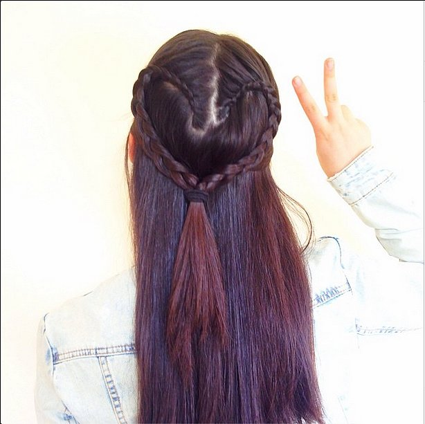 Half-Up Heart Braid