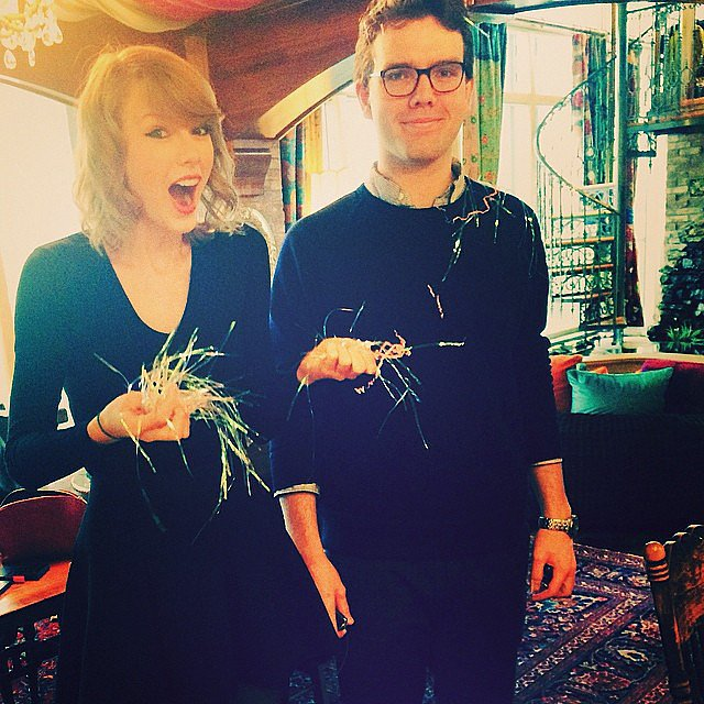 """Confetti-bombed my brother for his birthday and he was like,"" Taylor Swift capti"