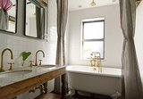 Room of the Day: Brass Warms a Brownstone Bathroom (5 photos)