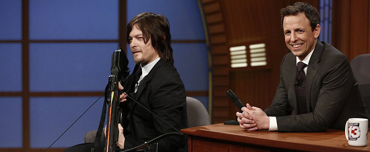 Norman Reedus Whips Out a Crossbow at Late Night