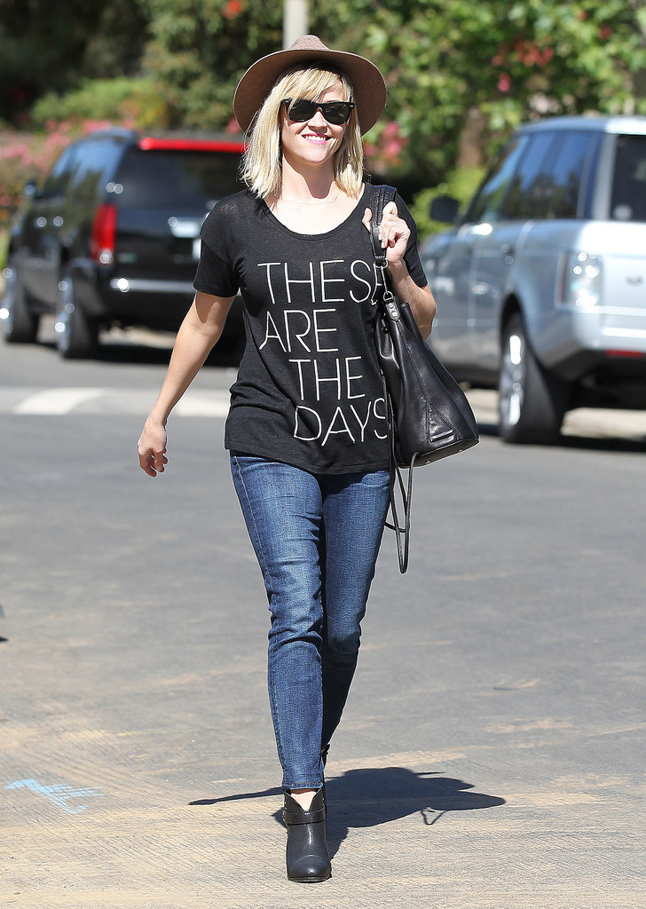 Reese Witherspoon went for a Wednesday stroll in Brentwood.