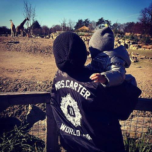 Beyoncé took Blue Ivy Carter to the zoo while on tour. Source: Instagram user beyonce