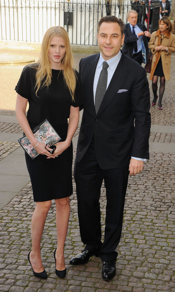 Lara Stone and David Walliams arrived together.