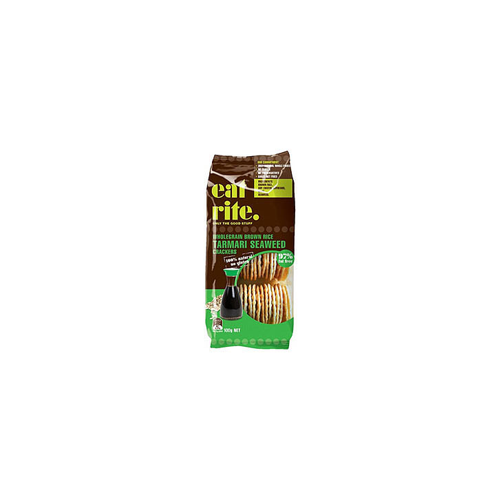 Eatrite Tamari Seaweed Wholegrain Brown Rice Crackers, $4.45