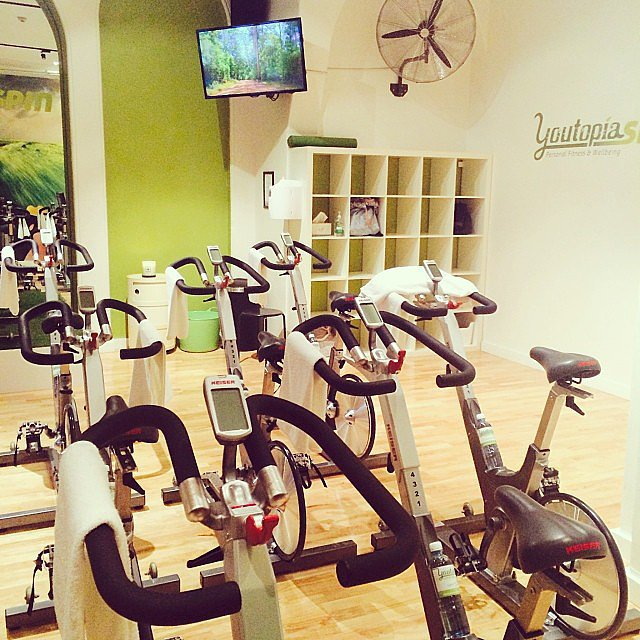 Youtopia is hands-down one of the most tranquil cycle studios we've ever set foot in. But don't be fooled, you'll still feel the burn!