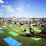 Health and fitness journalist Steph took part in one of the world's biggest yoga classes on Sunday. Not a bad setting, eh?