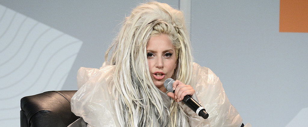 Lady Gaga Explains That Bizarre Coffee-Filter Dress
