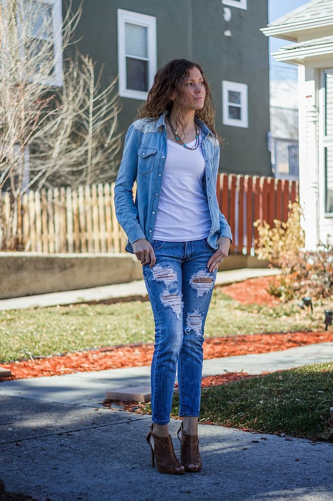 Congrats, EatPrayWearLove! We fully approve of your Canadian tuxedo.