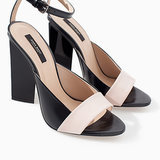 Zara High Heel With Geometric Pattern Sandal ($100)
