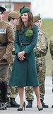 Kate Middleton in a Green Coat
