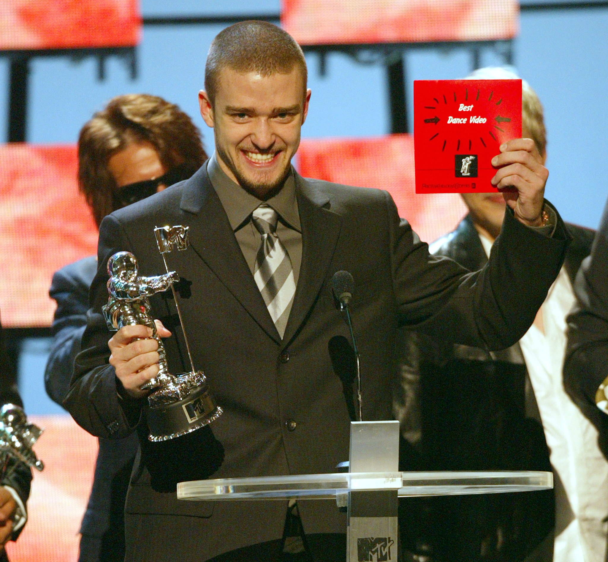 When he was adorably proud at the 2003 MTV VMAs.