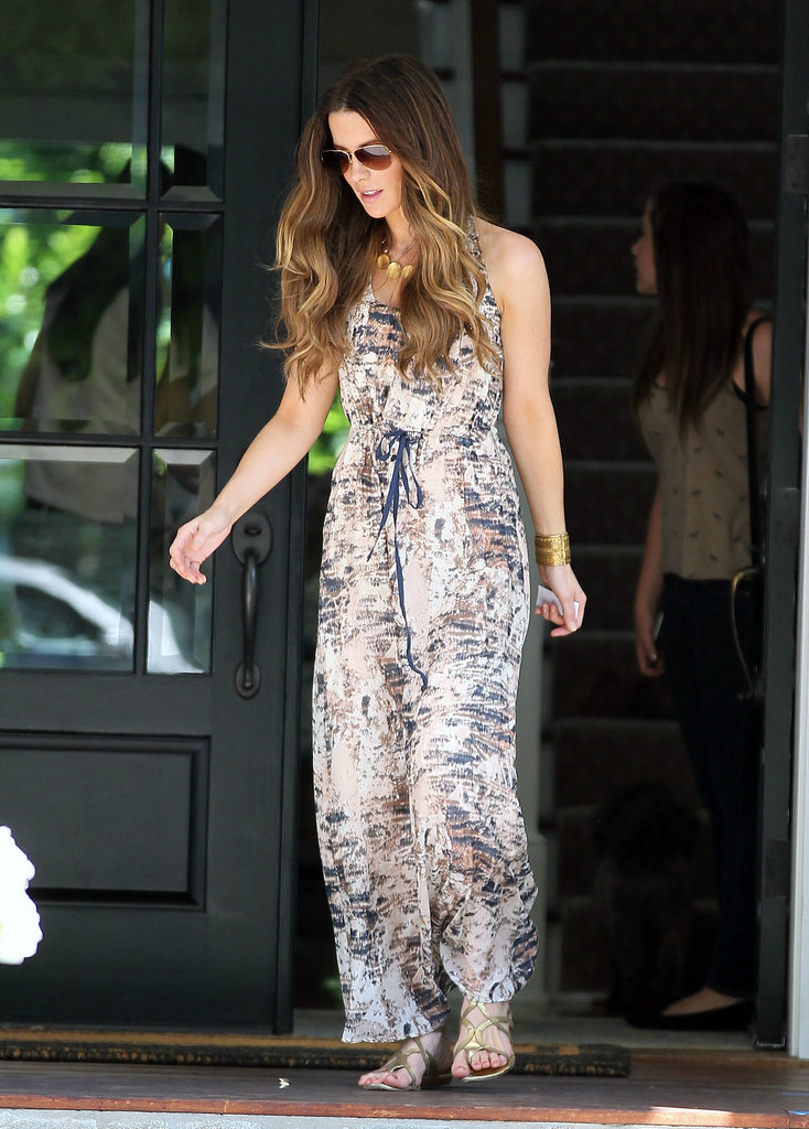 Kate Beckinsale in a Printed Maxi