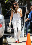 Kate Beckinsale in White Silk Pants