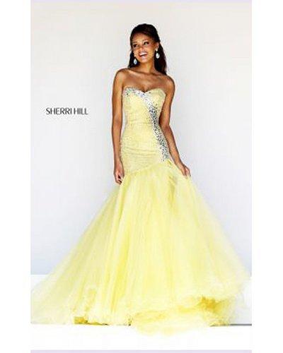 2014 Yellow Prom Dress Sherri Hill 11105