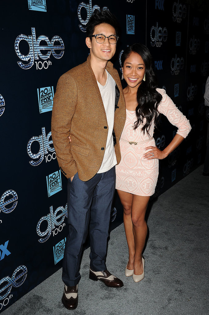 Harry Shum Jr. and his fiancée, Shelby Rabara, looked adorable.