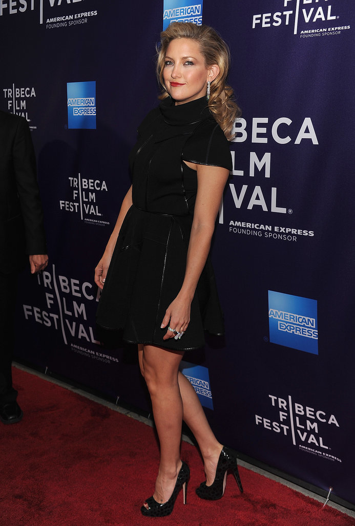 Kate Hudson Wearing a Black Dress