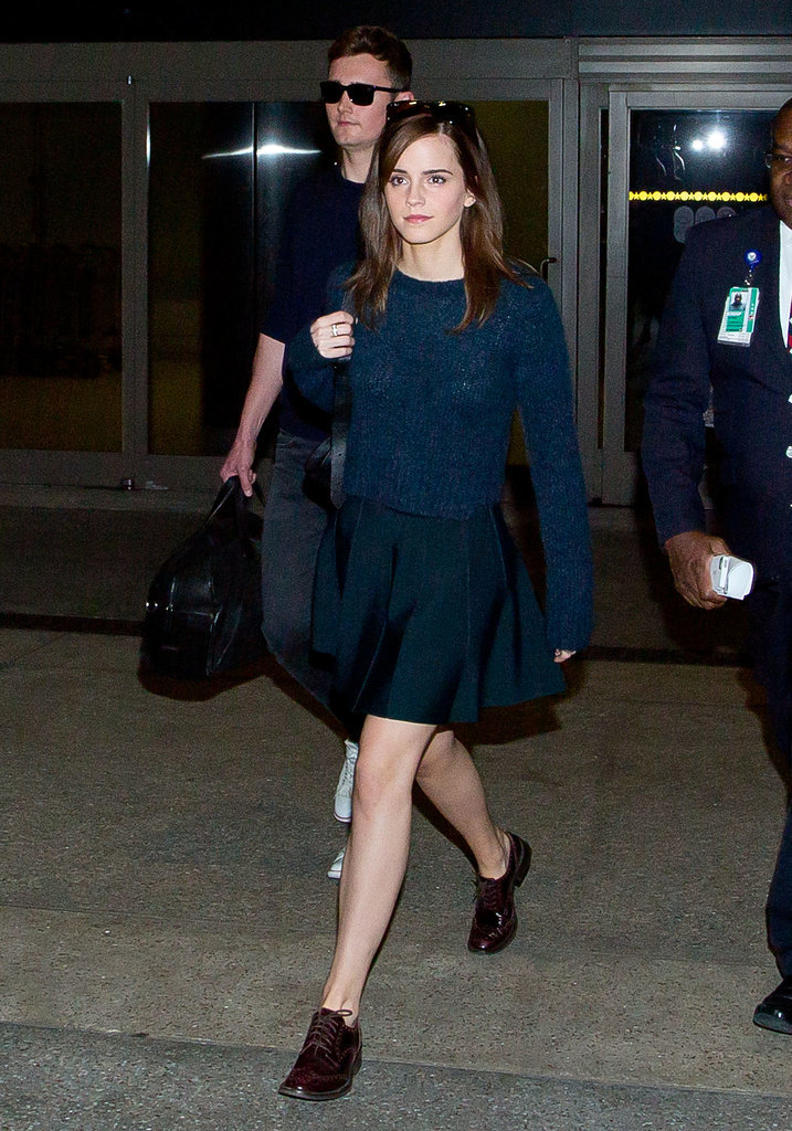 Emma Watson arrived in LA on Tuesday.
