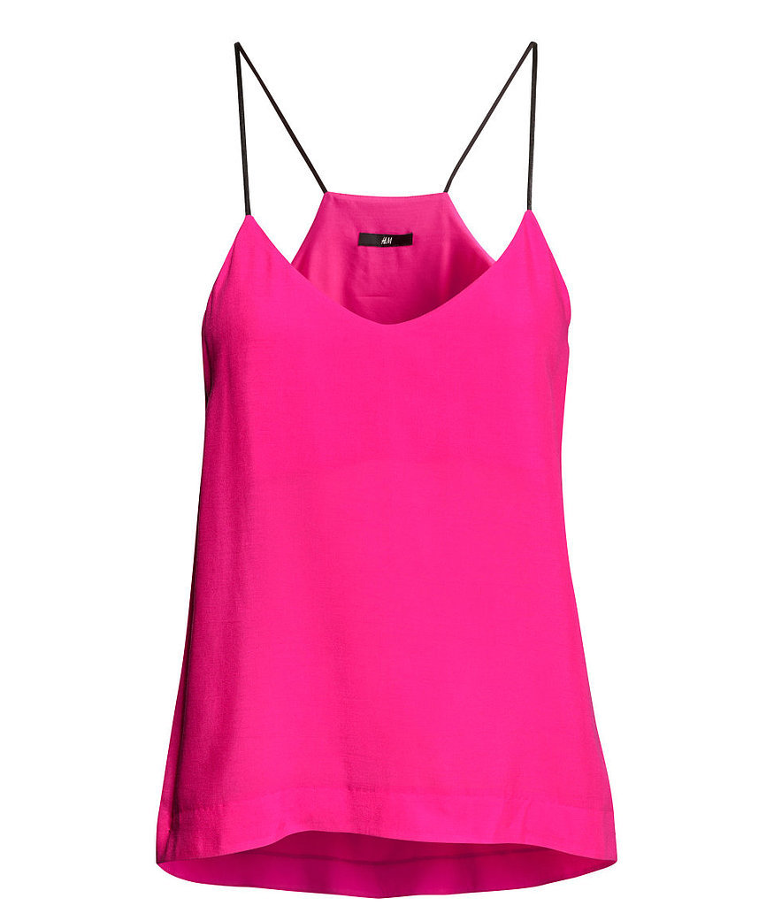 H&M hot pink skinny-strap tank top ($18)