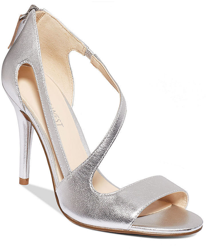 Silver Bridesmaids' Shoes