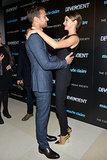 Shailene Woodley and Theo James shared a sweet moment at Thursday's screening of Divergent at NYC's Hearst Tower.