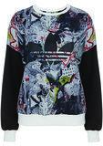 Topshop x Adidas Originals Print Sweatshirt