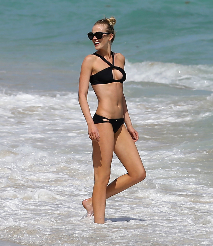 Anne V showed off her bikini body in Miami in February 2014.
