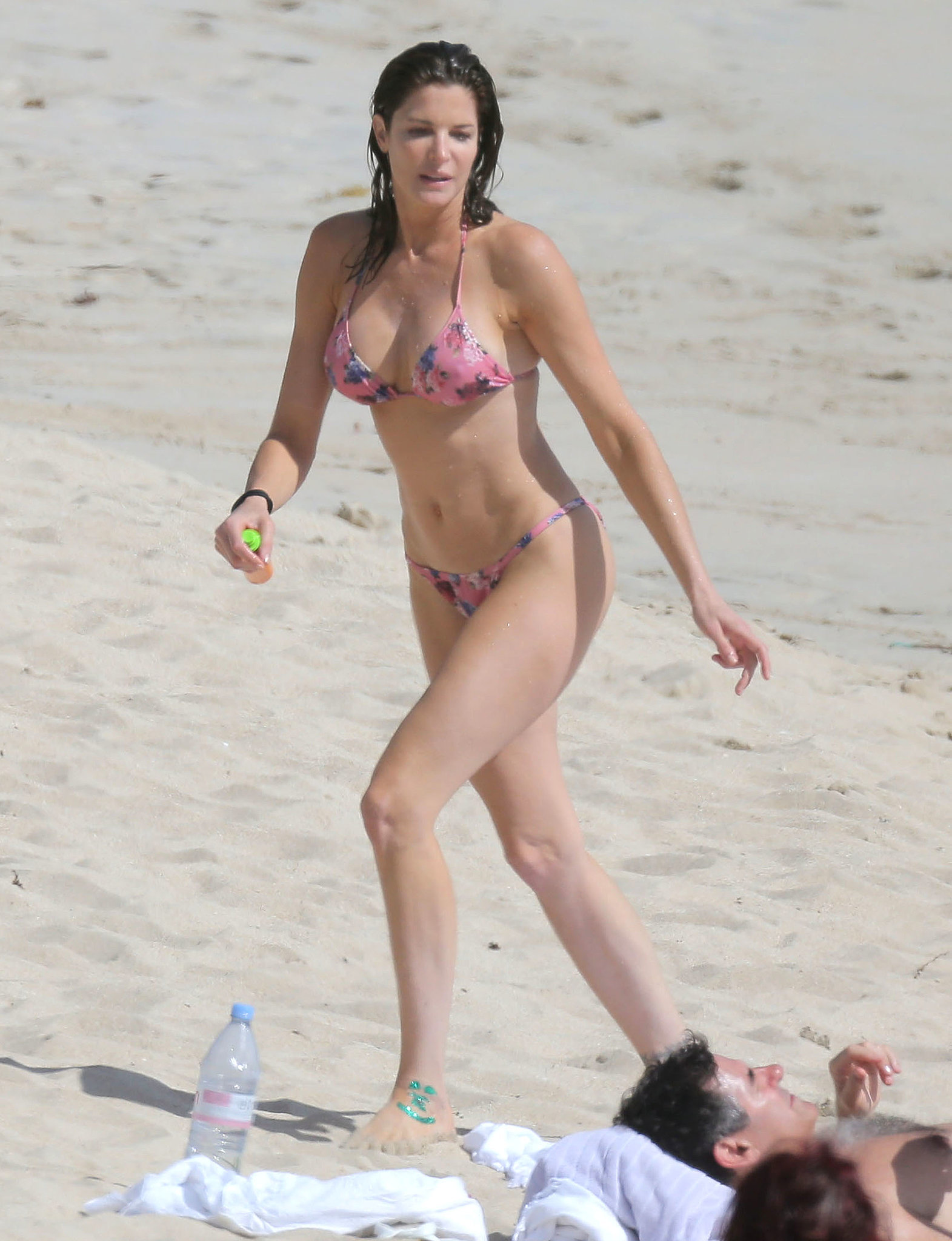 Stephanie Seymour showed off her bikini body in St. Barts in December 2013.