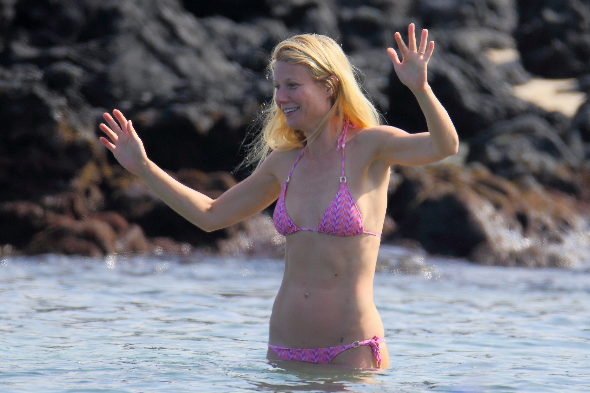 In January 2014, Gwyneth Paltrow wore a bikini in Hawaii.