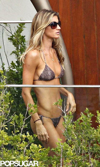 Gisele Bündchen wore a string bikini during a trip to Rio in March 2006.